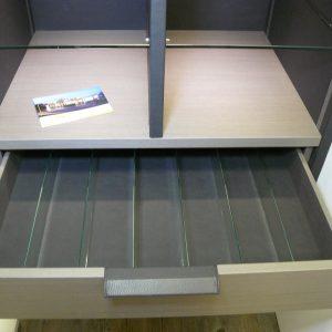 Schmalenbach Design Echtholz mit Leder und Glasseiten